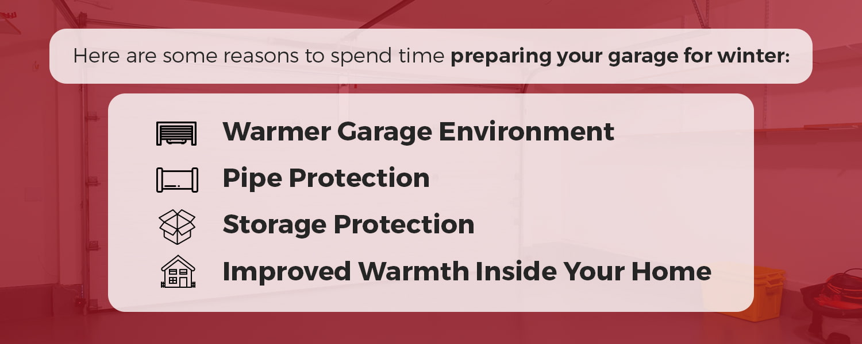 reasons for preparing garage for winter