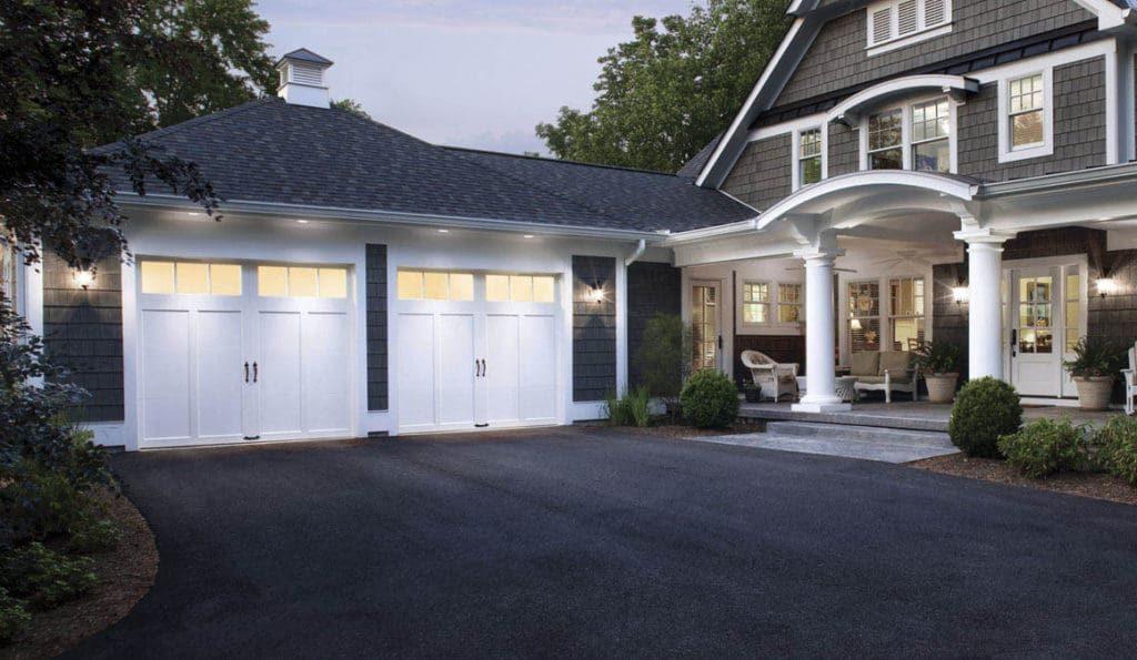 Lighted Garage Doors