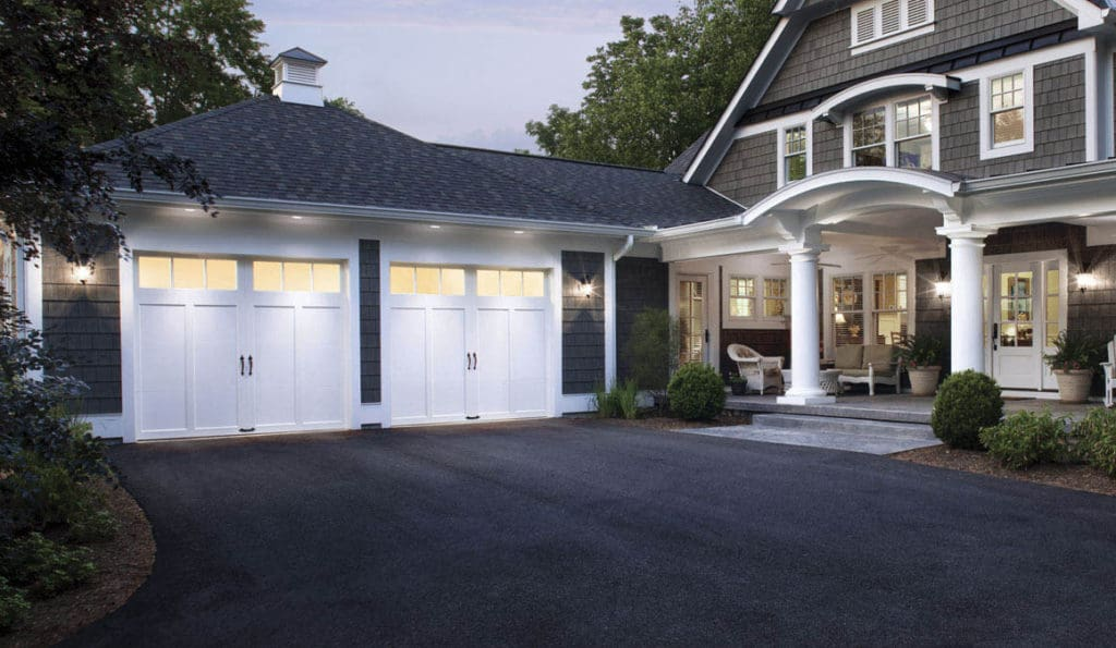 lighted garage doors
