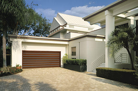 Clopay modern wood garage doors