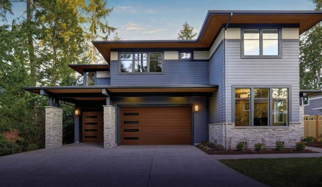 Clopay canyon ridge modern series garage doors