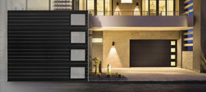 clopay  garage door modern steel series