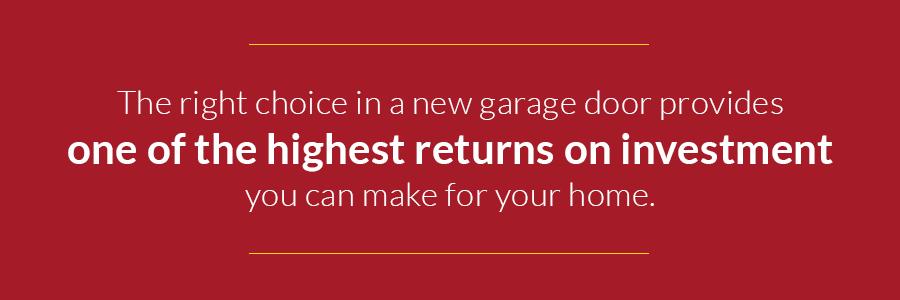 new garage doors are among highest return on investment