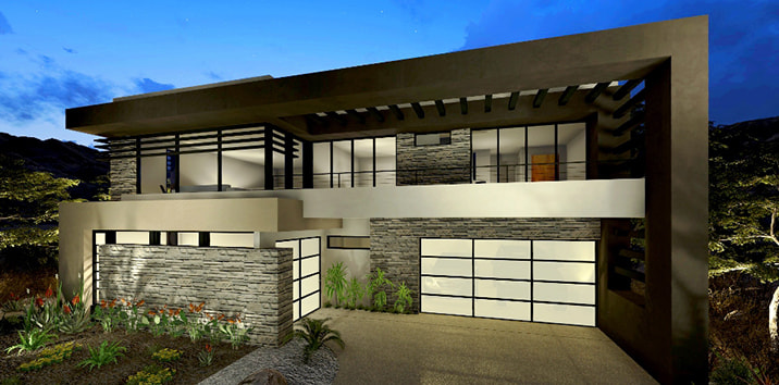 Clopay Avante aluminum and glass garage doors