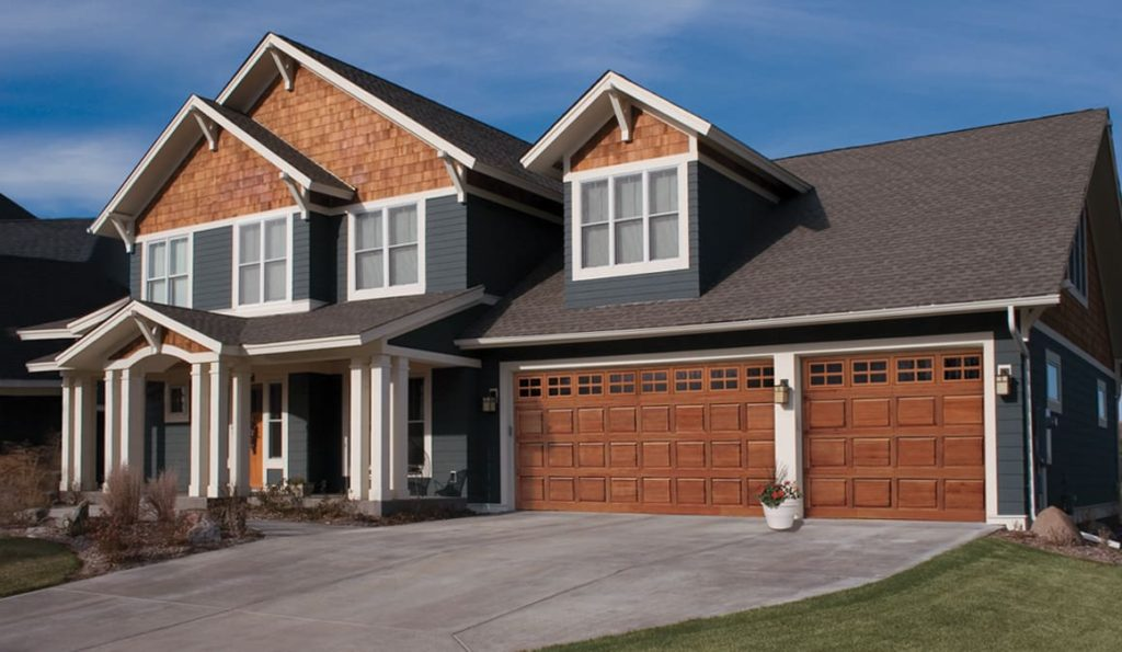 classic wood residential garage doors