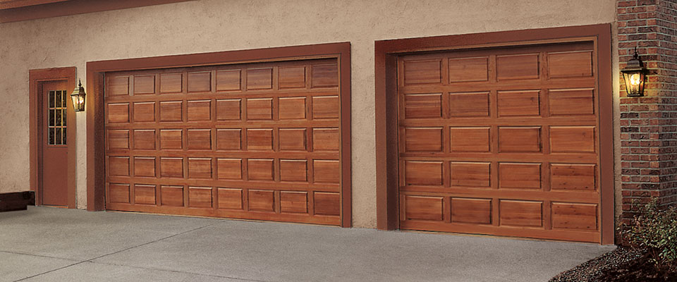 Clopay classic wood short panel garage doors